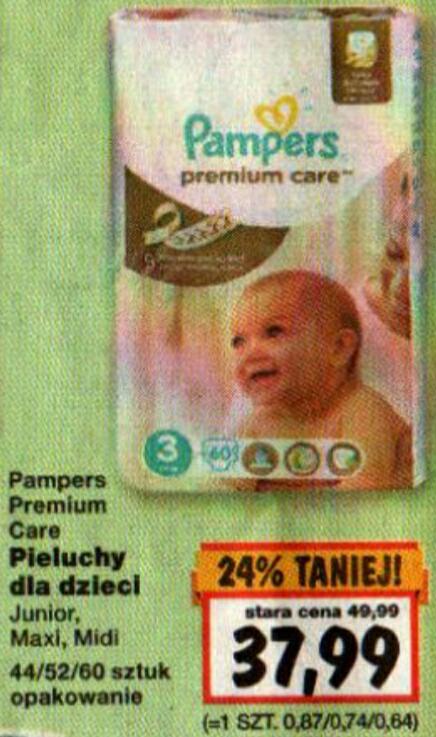 Pampers Premium 37.99 zł KAUFLAND