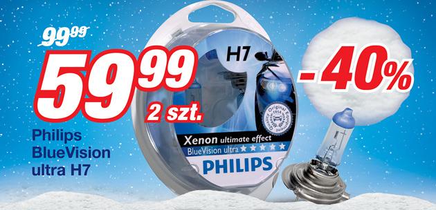 Żarówki Philips Blue Vision Ultra H7 za 59,99 zł @ Norauto