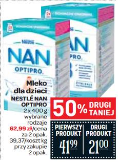 Mleko Nestle NAN 2x800g za 62,99zł @ Carrefour