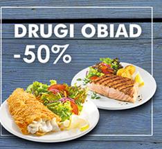 Drugi obiad taniej o 50% @ north Fish