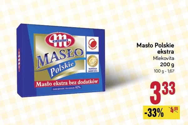 Masło Polskie 33% taniej @ POLOmarket