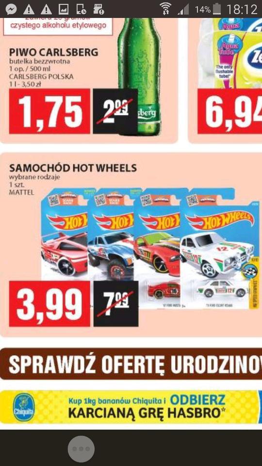 samochodziki hot wheels za 3.99 w Piotr i Paweł