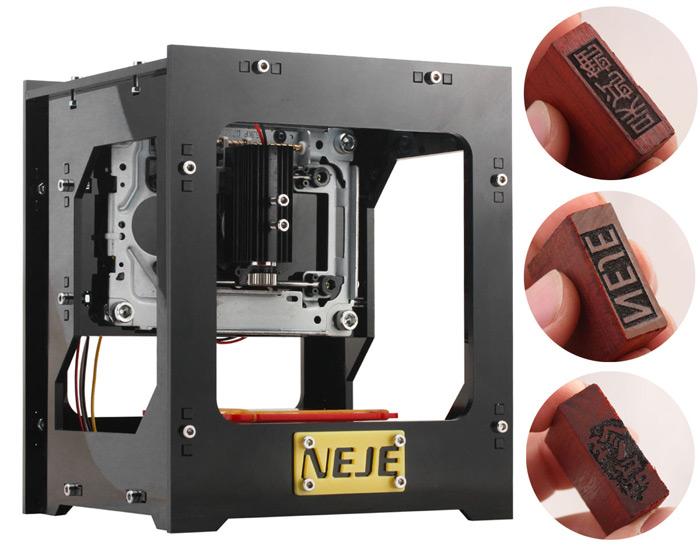 Laserowy grawer NEJE DK-8 - drewno, skóra - 1000 mW @Gearbest