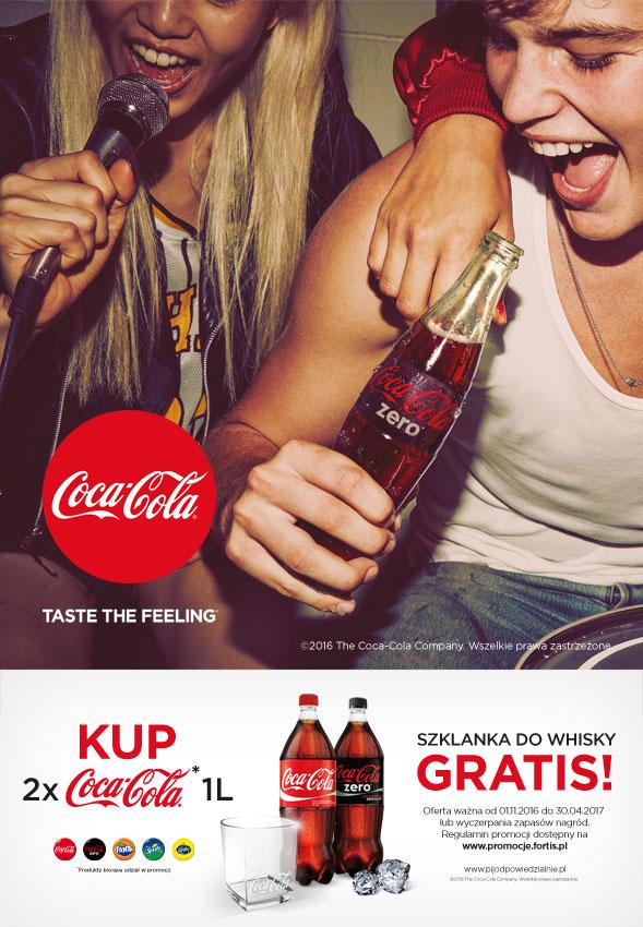 Szklanka do Whisky gratis (przy zakupie Coca Coli)