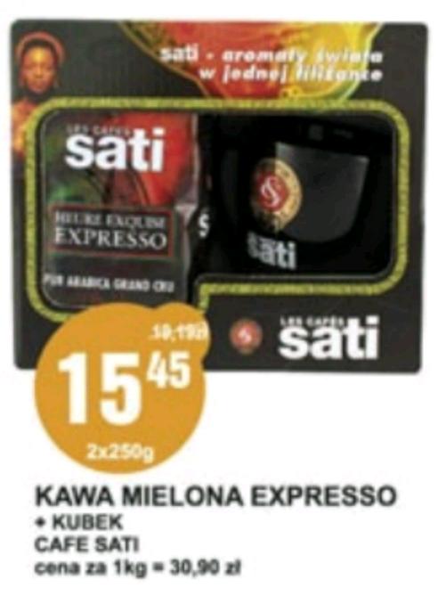 Kawa mielona Sati Expresso 2x250g + kubek @E.Leclerc