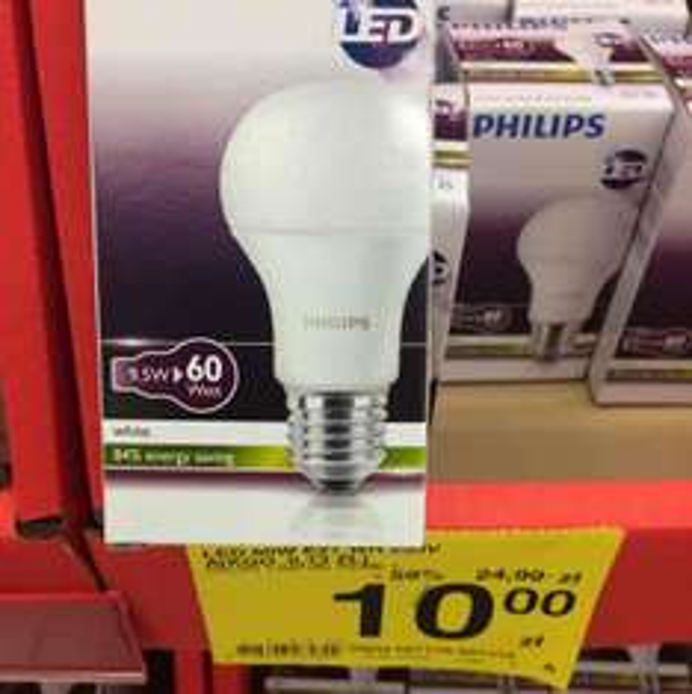 Żarówki LED E27 Philips w Carrefour