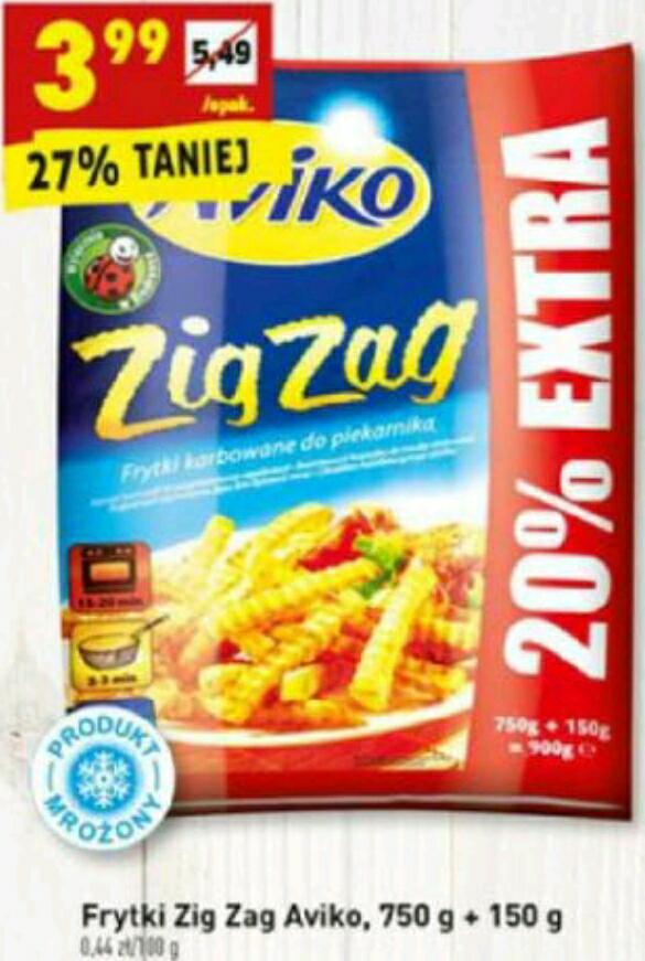 Frytki Zig Zag 900g 3.99zł BIEDRONKA