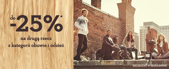 Do 25% rabatu na drugi produkt @ Timberland