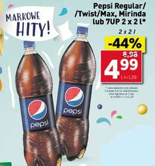 Pepsi/Mirinda/7UP 2 x 2L za 4,99zł @ Lidl