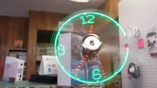 Mały gadżet - Wiatraczek  z zegarkiem USB - zielony @Gearbest