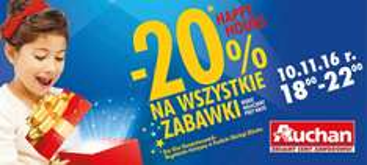 -20% na wszystkie zabawki @Auchan