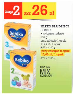 Mleko Bebiko 350g za 13zł @ Intermarche