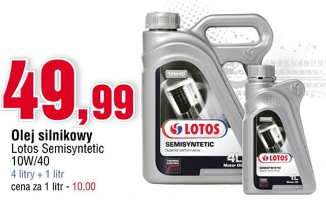 Olej silnikowy Lotos Semisyntetic 4+1l za 49,99 zł @ E.Leclerc