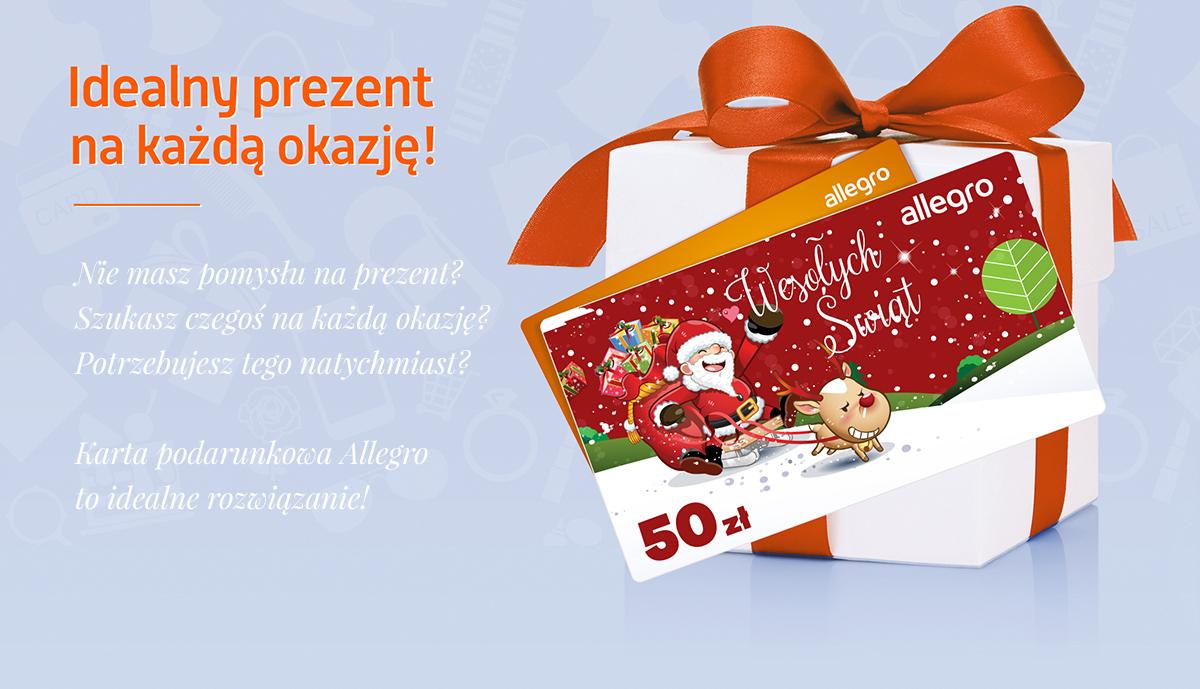 2 zł taniej na Allegro przy MWZ 50 zł- karta podarunkowa