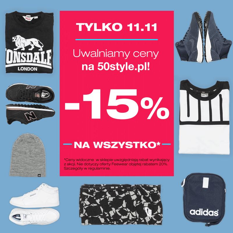 -15% na wszystko @50style.pl
