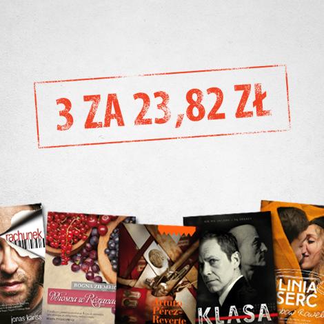 3 książki za 23,82zł ( 7,94zł za sztukę) @ Znak