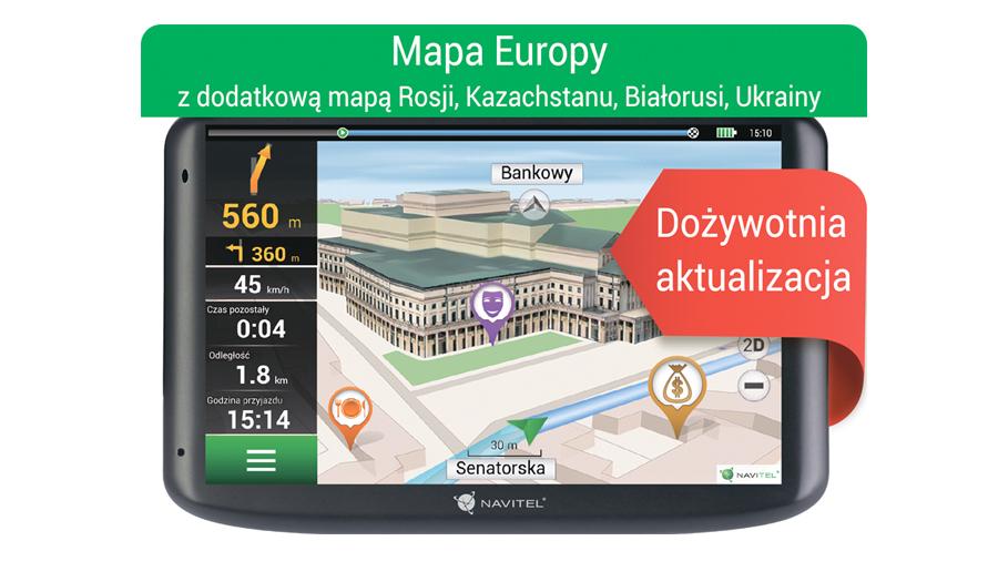 """Nawigacja Navitel E500 5"""" - Europa Dożywotnia @x-kom"""