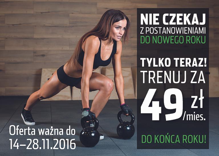 PROMOCJA powraca Trenuj za 49 zł miesięcznie do końca roku @FitnessWorld