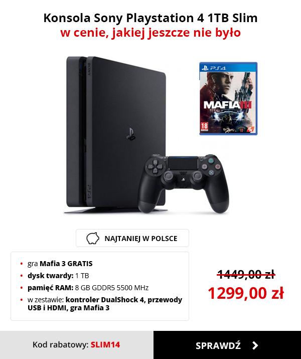 Playstation 4 Slim 1TB + Mafia III za 1299zł @ Morele.net