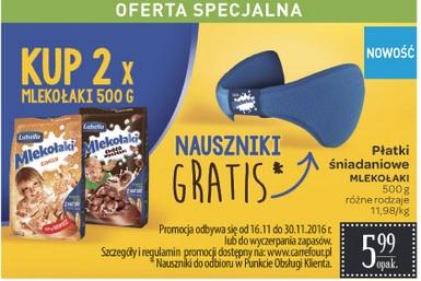 Nauszniki gratis przy zakupie 2 opakowań Mlekołaków @ Carrefour