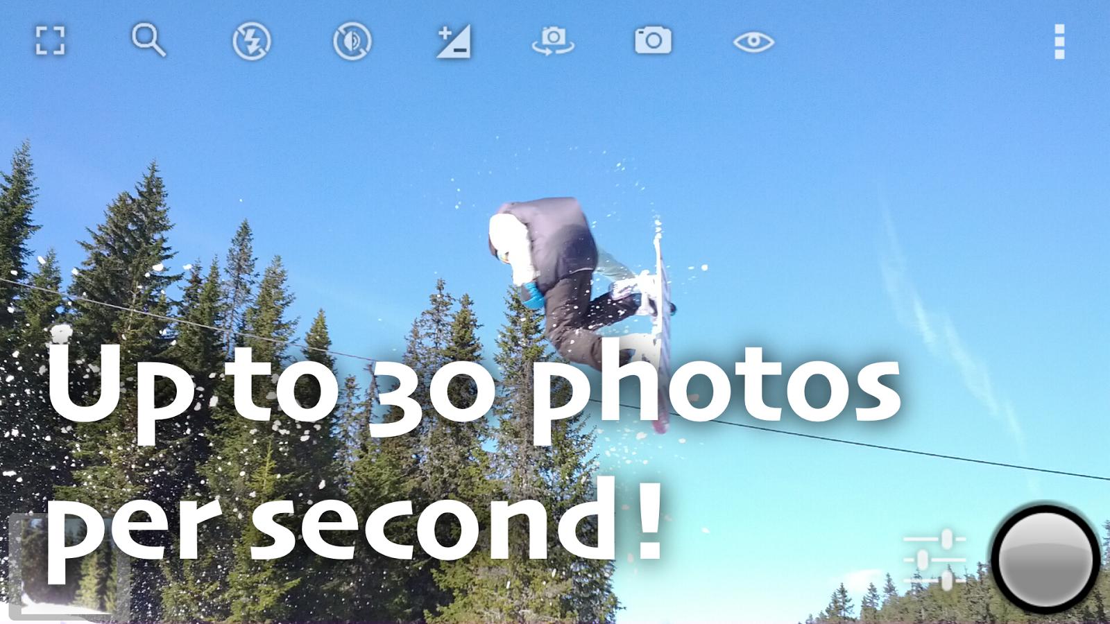 Fast Burst Camera - aplikacja robiąca szybko zdjęcia @Google Play