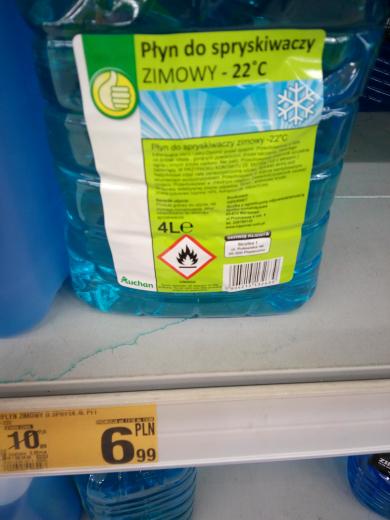 Płyn do spryskiwaczy - Zimowy Auchan 6.99 4 L