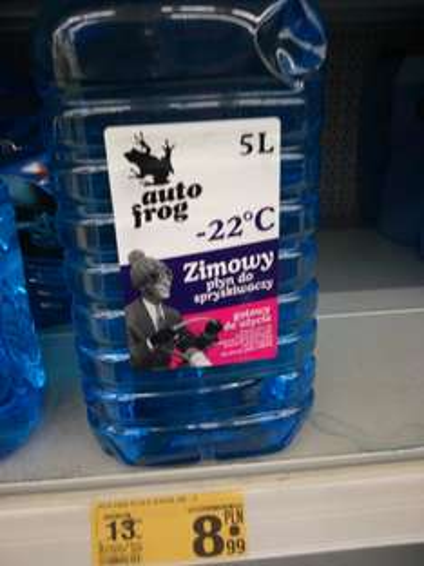 Zimowy płyn do spryskiwaczy 5L 8.99 zl -22stopnie Auchan