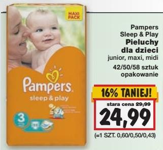 Pieluszki Pampers Sleep&Play za 24,99zł @ Kaufland