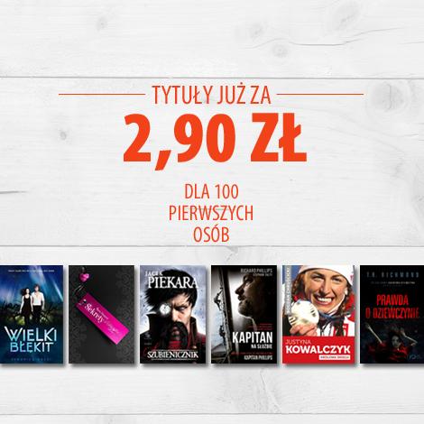 Książki za 2,90zł i 3,90zł dla pierwszych 100 osób @ Znak