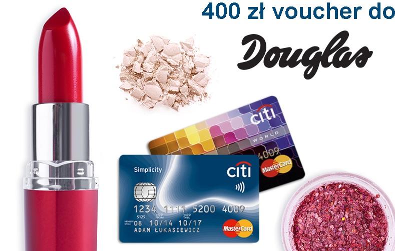 Voucher 400 zł do perfumerii Douglas za założenie darmowej karty Citi Simplicity