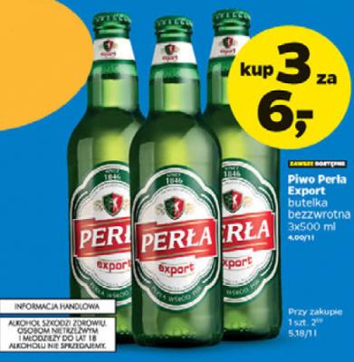 Perła Export 3 sztuki za 6zł w NETTO
