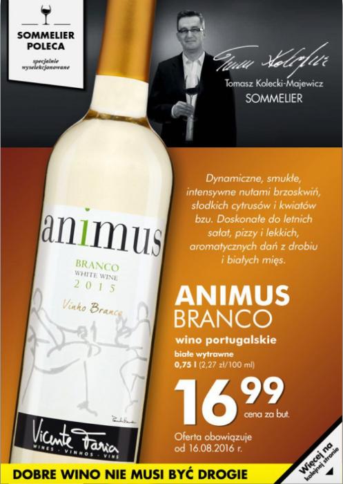 """Białe wino z serii """"Sommelier poleca"""""""