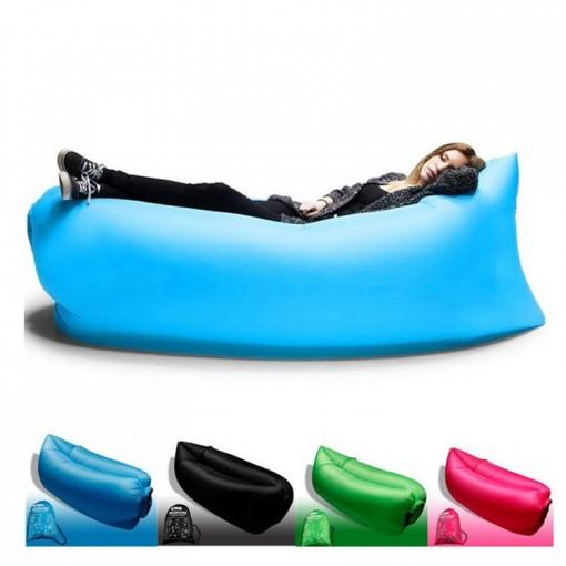 Lazy Bag/Laybag - dmuchana sofa/kanapa podróżna za 44zł z wysyłką (niebieska) @ dd4
