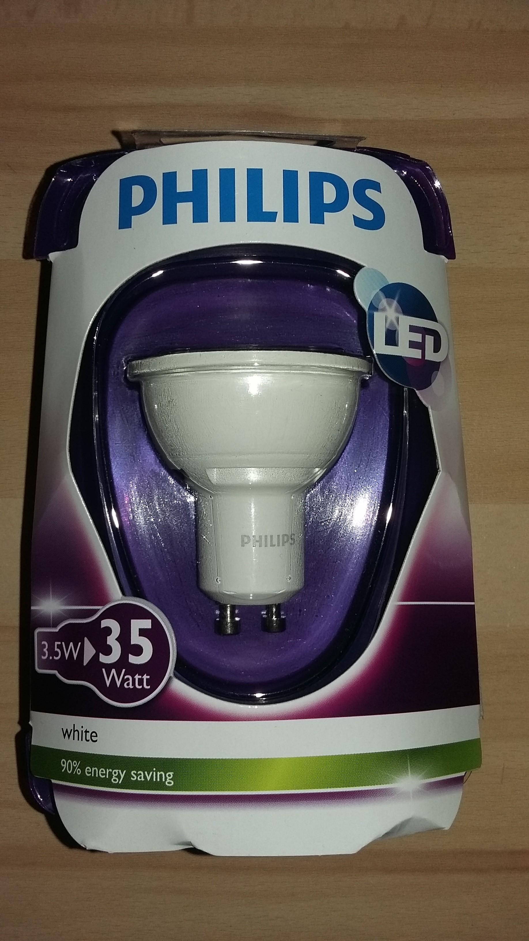 Żarówka Philips LED GU10 (Auchan Bytom)