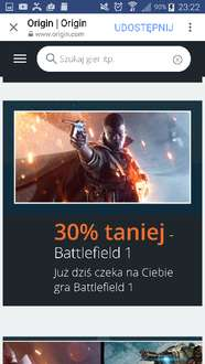 BLACK FRIDAY - Battlefield 1 / 30% taniej