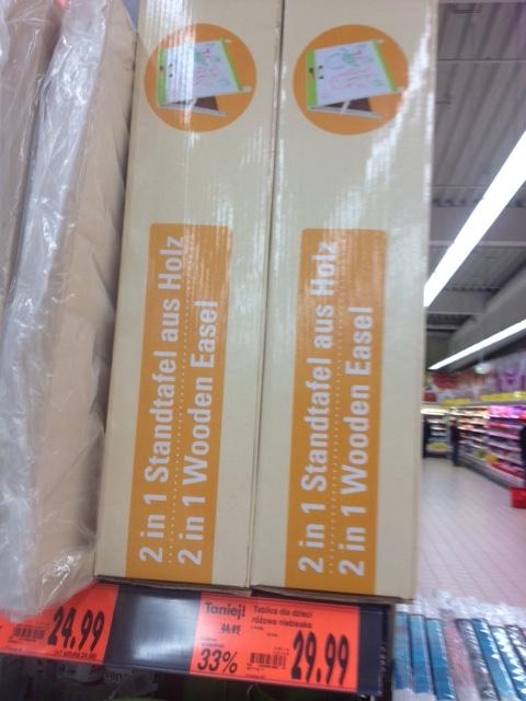 Drewniana tablica dla dzieci za 29,99zł @ Kaufland