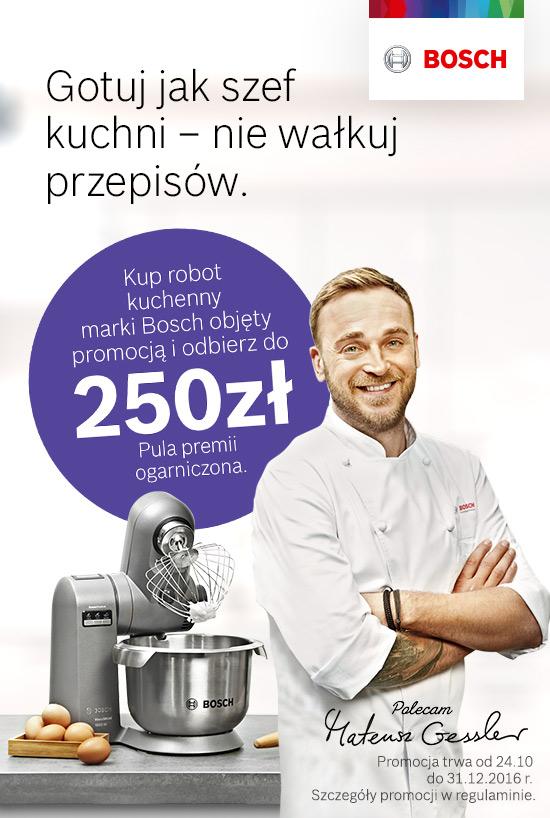 Do 250zł zwrotu za zakup robota kuchennego @ Bosch