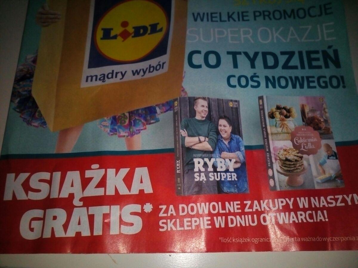 Książka gratis do dowolnych zakupów (Poznań, 24.11 otwarcie nowego sklepu) @ Lidl