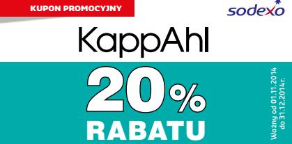 Kupon rabatowy -20% na całe zakupy KappAhl @ Sodexo