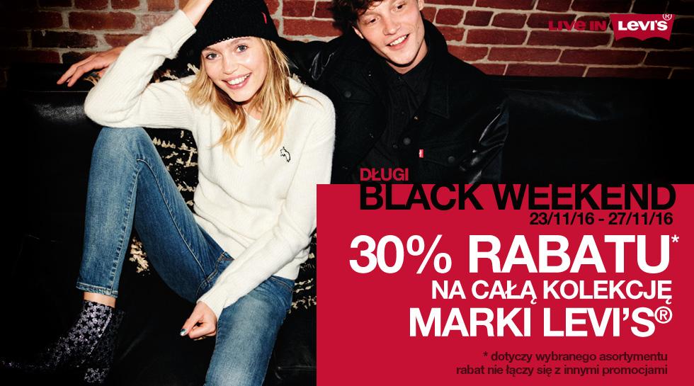 Black Friday w salonach Levi's® i na jeans24h.pl! -30% na wszystko!