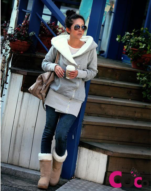 Długa damska bluza z kapturem za 39,85zł @ Coco-fashion.pl