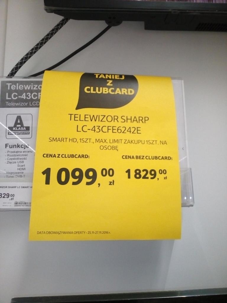 """TV Sharp Aquos 43"""" za 1099zł  oraz 49"""" za 1349zł @ Tesco"""
