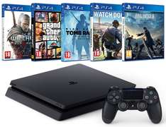 ps4+5 gier (Final Fantasy XV + Watch Dogs 2 + Rise of the Tomb Raider + GTA V + The Witcher 3) @ Amazon.fr