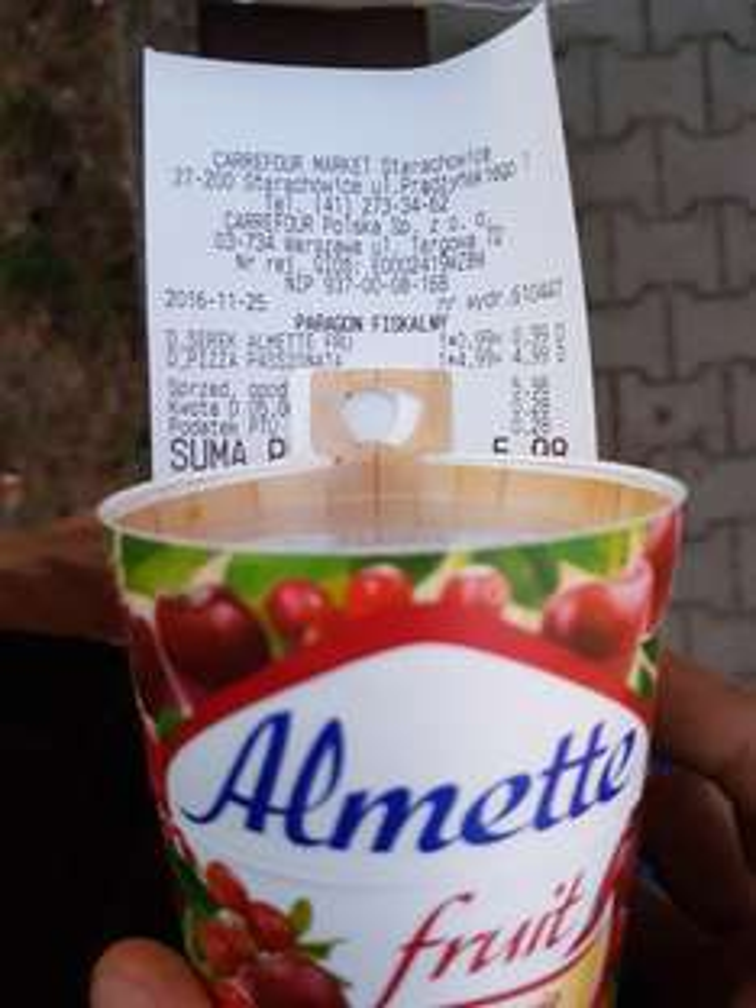 Puszysty serek twarogowy - Almette fruit - 0.99 zł