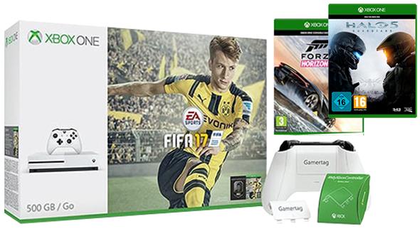 Xbox One S 500GB + Fifa 17 + Halo 5: Guardians  + Forza Horizon 3 + personalizacja pada za ok. 1200zł@ Microsoft.uk