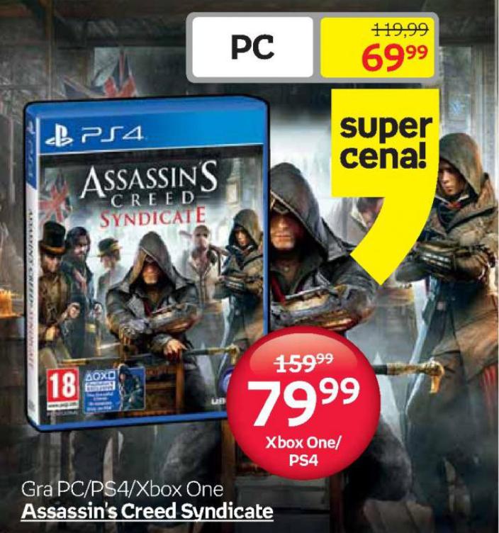 Assassin's creed syndicate ps4 za 79,99zł (możliwe 54,99zł)