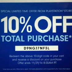 PSN / PS STORE US - 10% kod rabatowy