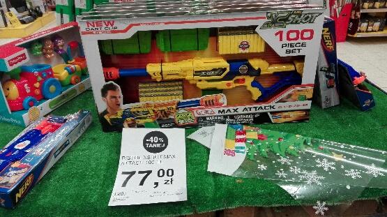 Pistolet Zuru X Shot za 77zł @ Tesco