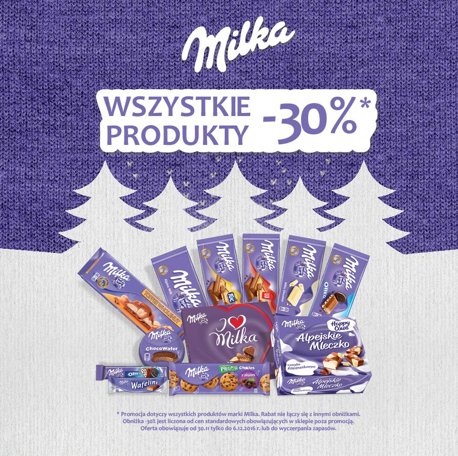 Milka - Wszystkie produkty -30% @Żabka