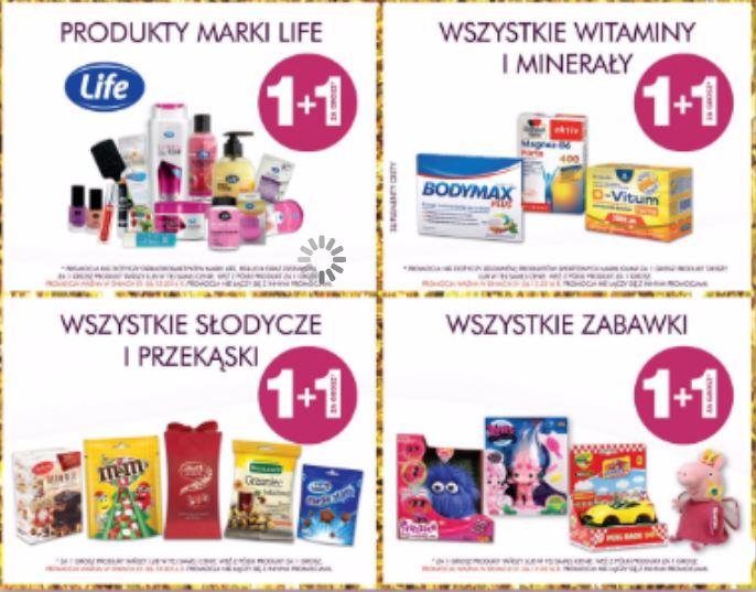 1+1 za grosz (zabawki, przekąski i słodycze, minerały i witaminy, cała marka Life) @ Super-Pharm